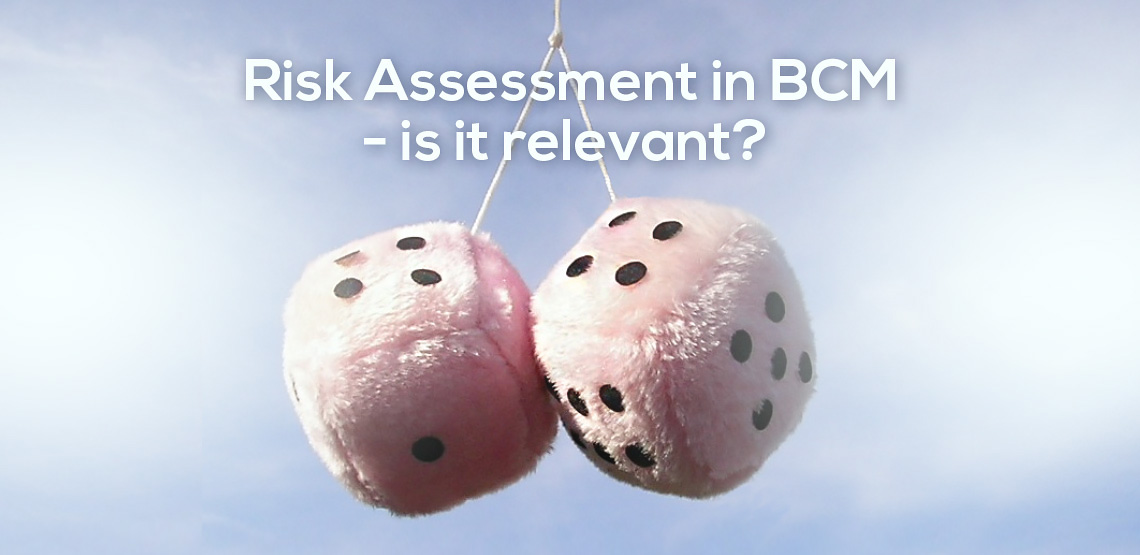 You have a Risk Department.  Why do YOU conduct Risk Assessments?